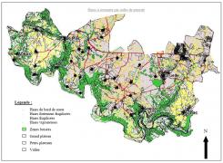 Plan de gestion communal présentant l'ensemble des haies de la commune te leur état d'entretien