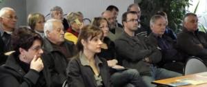 Luc Primaube : réunion en salle de présentation des rôles des haies